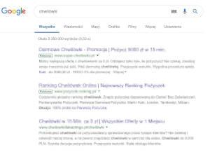 Wyniki wyszukiwań Ads ikona